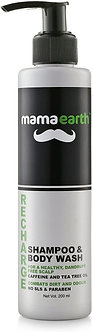 Mamaearth's Recharge Energizing Shampoo and Body wash for Men with Caffeine and