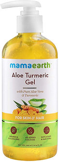 Mamaearth's Aloe Turmeric Gel form 100%pure Aloevera for face,skin &Hair