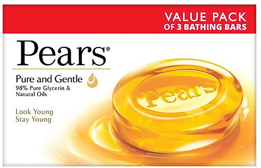 Pears Pure and Gentle Soap Bar,125g(Pack of 3)