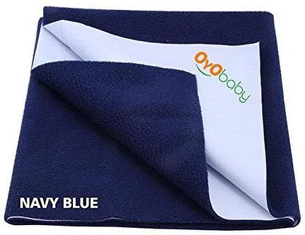 Oyo Baby waterproof Bed Protector Dry Sheet Medium (Navy Blue)