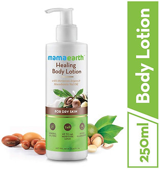 Mamaearth's Healing Natural Body Lotion with Argan oil& Macadamia Nut