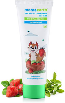 Mamaearth's 100%Natural Berry Blast kids Toothpaste 50GM