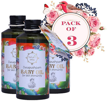 Natural's Vedo Dasapushpam Baby oil150ml pack of 3