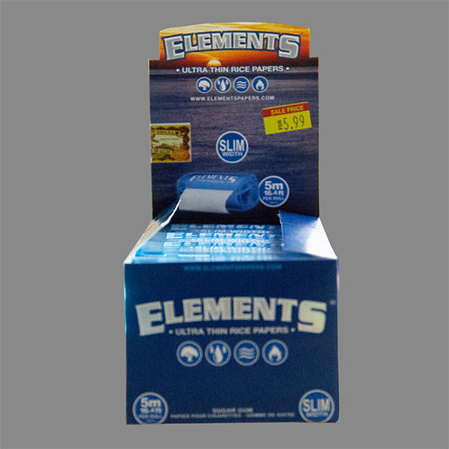 ELEMENTS Ultra Thin Rice Papers SLIM Width 5 - BOX