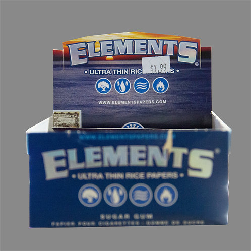 Elements King Size Ultra Thin Sugar Gum Rice - BOX
