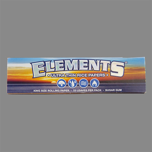 Elements King Size Ultra Thin Sugar Gum Rice
