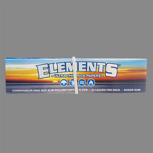 Elements King Size Slim Connoisseur Rice Papers
