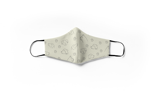 Reusable Dog Printed Face Mask