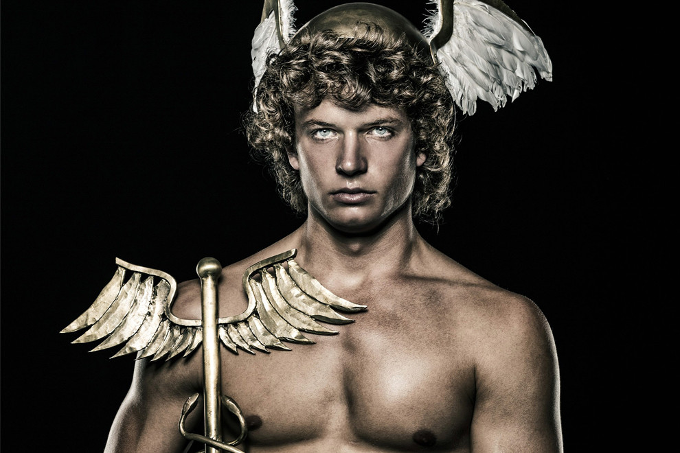 Portration of the Greek God Hermes