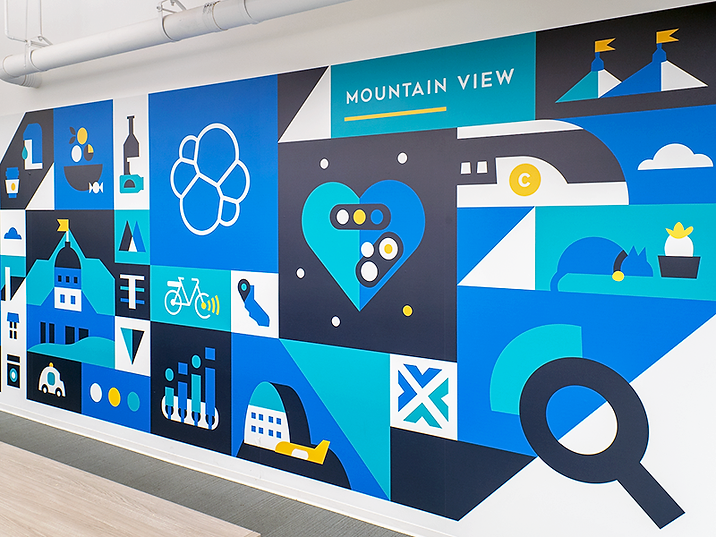 Mountain View Office Mural