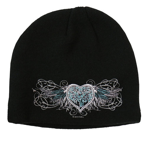 KNIT HAT SPARKLE WINGS