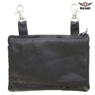 Black All Naked Cowhide Leather Gun Holster Belt Bag
