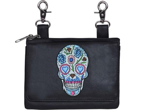 CLIP-ON BAG WITH SUGAR SKULL