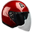 Thumbnail: VEGA VTS1 OPEN FACE HELMET VELOCITY RED