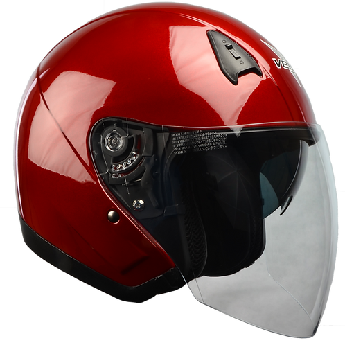 VEGA VTS1 OPEN FACE HELMET VELOCITY RED