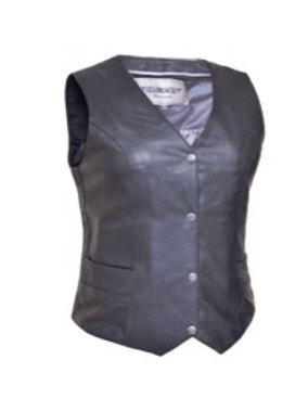 LADIES TRADITIONAL LEATHER VEST