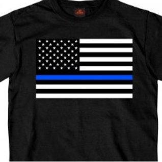 MEN'S THIN BLUE LINE FLAG SS