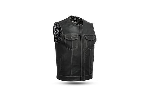 Men's Leather Custom Club Vest w/o Collar