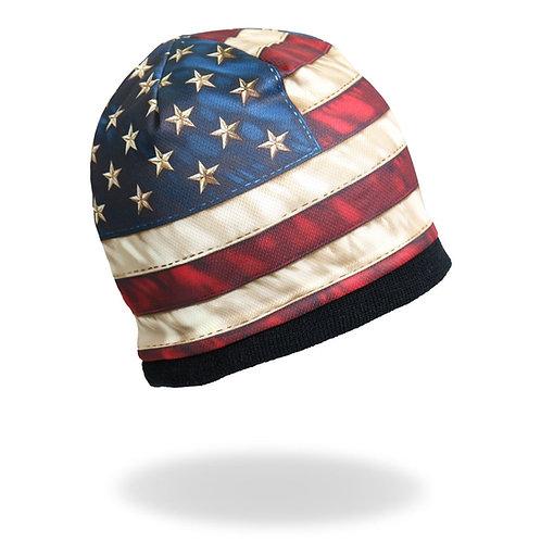 AMERICAN FLAG BEANIE HAT