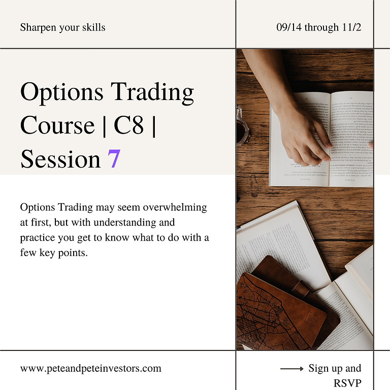 Options Trading Course   C8   Session 7
