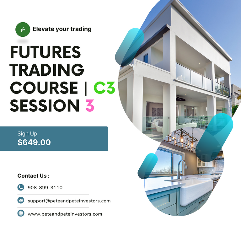 Futures Trading Course C3   Session 3