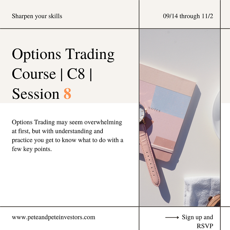 Options Trading Course   C8   Session 8