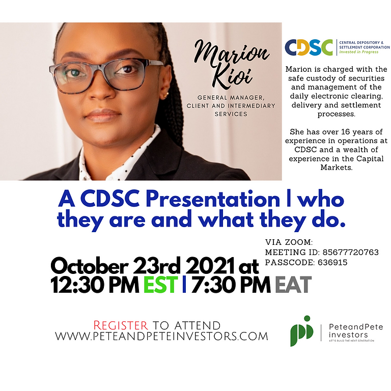 CDSC: Who they are and What they do