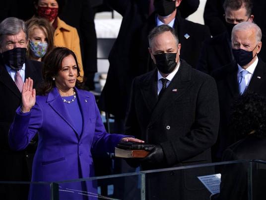 Harris sworn in