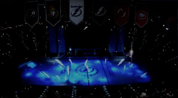 Lightning Projection Mapping on ice