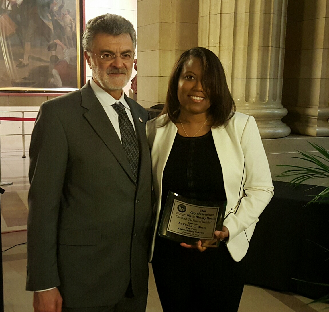 LaTasha C. Watts & Mayor Frank Jackson