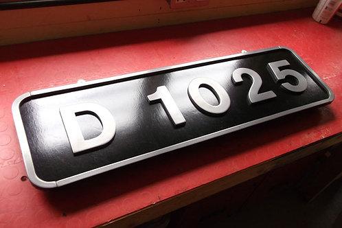 Western Class Numberplate D1025