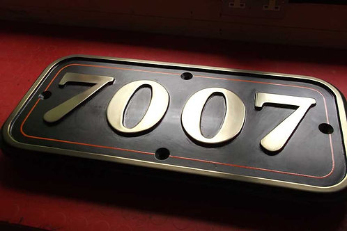 Cast Repro Cabside Number Plate 7007