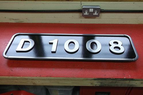 Western Class Numberplate    D 1008