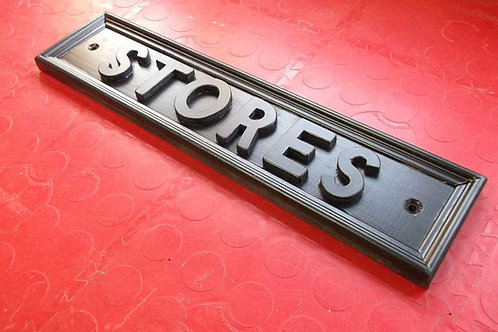 """Railway Style """"Stores"""" Sign Unpainted"""