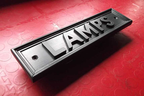 "Railway Style ""Lamps"" Sign Unpainted"