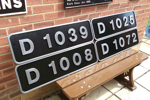 Western Class Numberplates