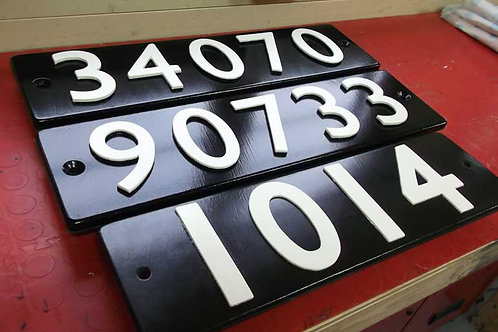 Four & five digit smoke box plates (made to order)