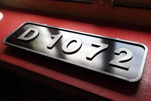 Western Class Numberplate D1072
