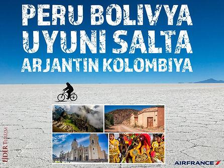 Peru Bolivya Uyuni Arjantin Kolombiya Turları
