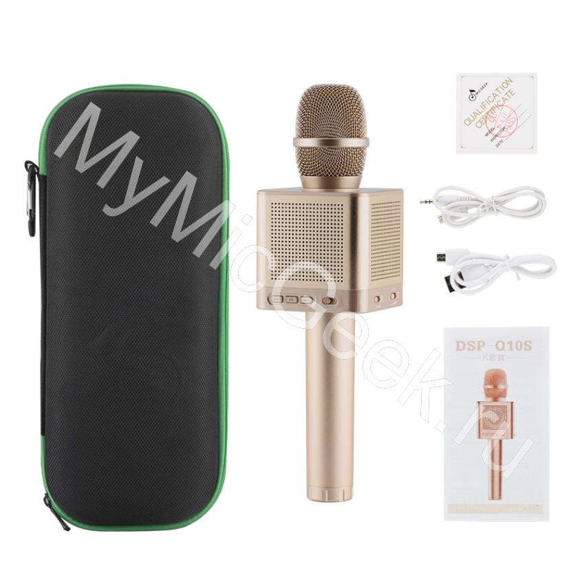 MicGeekQ10S самый мощный караоке микрофон