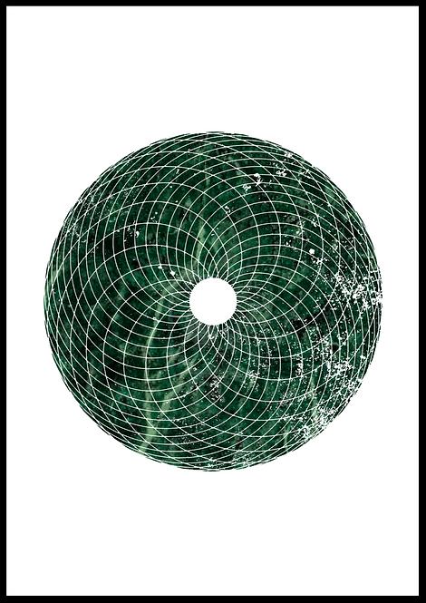 Torus illustration i grøn marmor