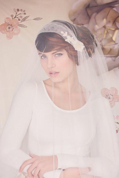The Sylvia Bridal Cap Veil #153