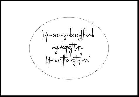 You are my dearest.. citatplakat