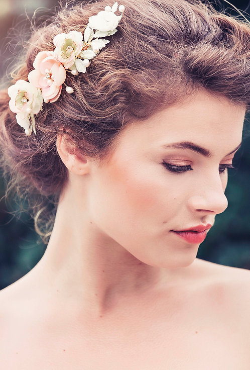 Annelie Bridal Flower Hair comb #GD1026