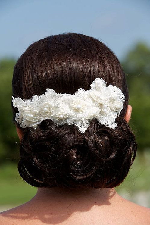 The Kristina Bohemian Style Lace Headpiece