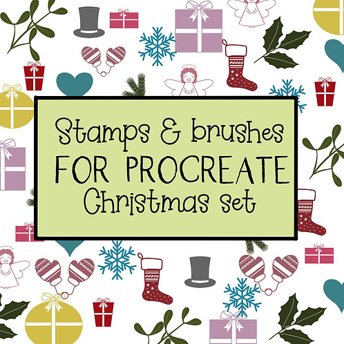 Procreate christmas stamps & brushes