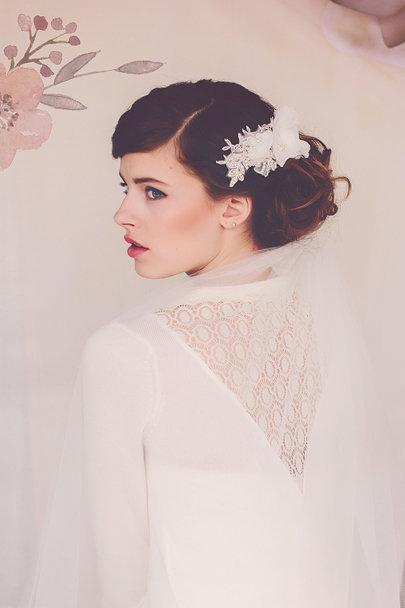 The Delia Bridal Flower Headpiece #152