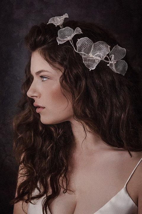 Atlanta Silver Wirelace Bridal Crown GD180112