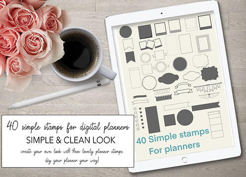 Procreate shapes stamps for planners