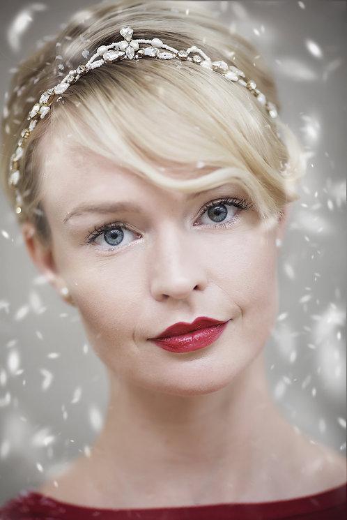 Claudette Gold Tiara #306